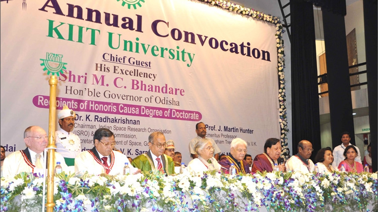 6th Annual Convocation 1568 Students Awarded Degrees at KIIT Convocation