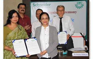 MoU with Schneider Electric 4th May 2017