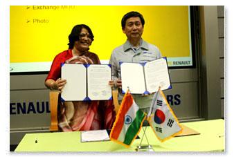 MoU with Renault Samsung Motors Co. Ltd.
