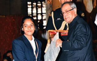 Saina Salonika receives National Child Award