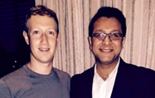 KIIT Student with Facebook Founder Mark Zuckerberg