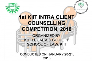 1ST KIIT INTRA CLIENT COUNSELLING COMPETITION