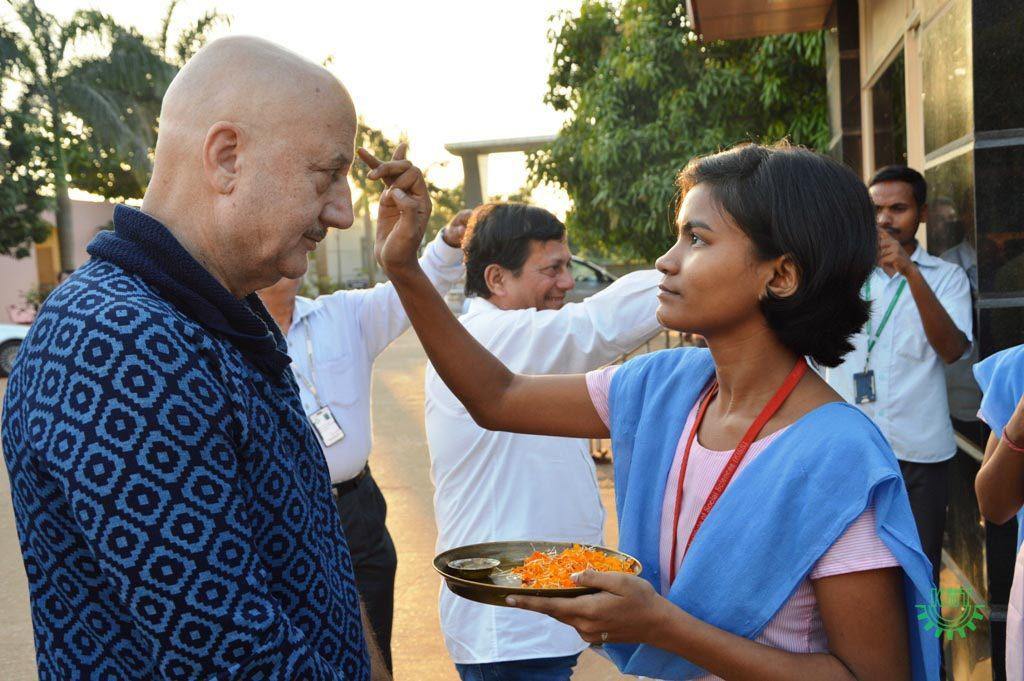Anupam Kher Visited KIIT & KISSV