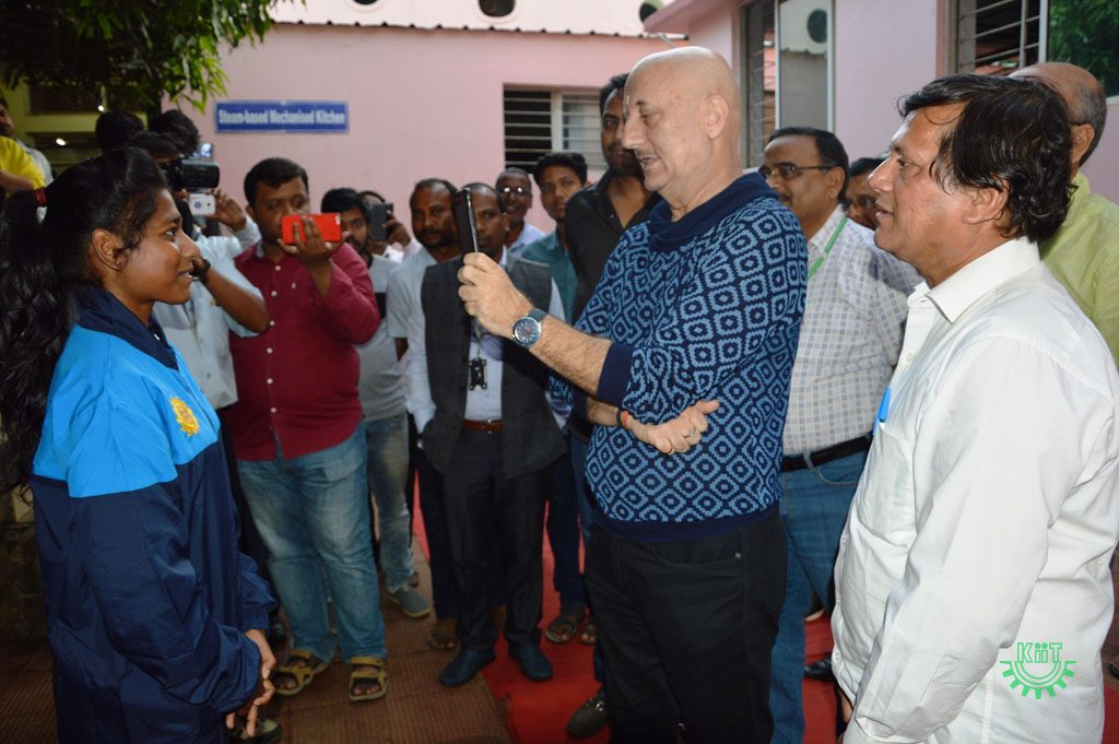 Anupam Kher Visited KIIT & KISS