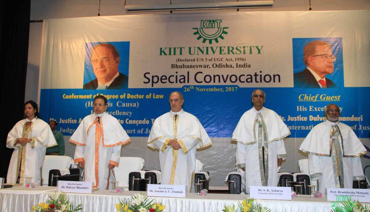 Special Convocation at KIIT 2017