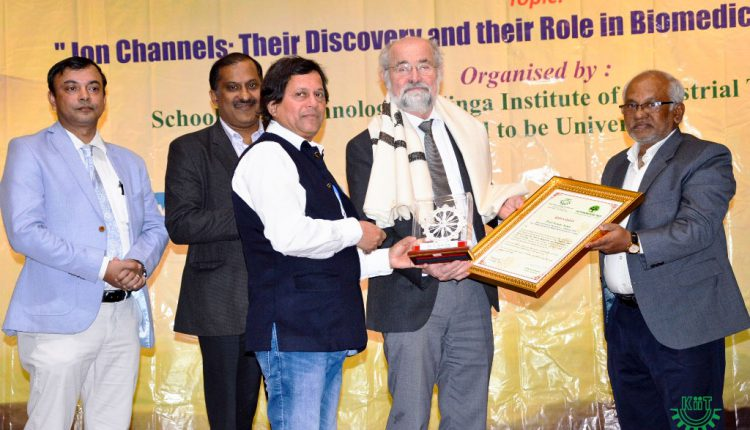 Nobel Laureate Prof. Erwin Neher Delivered Talk at KIIT
