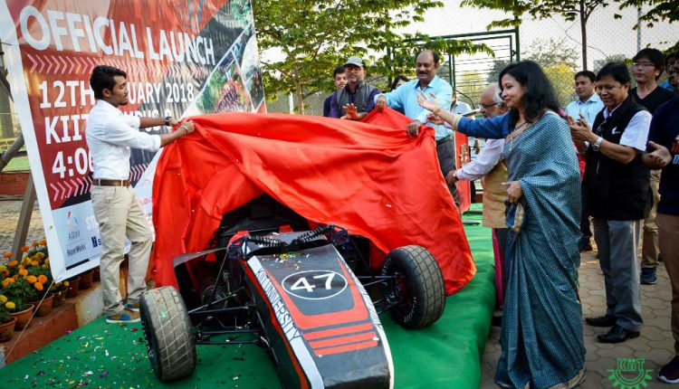 Unveiling of HR-17 (Hermes-Racing) in KIIT Campus