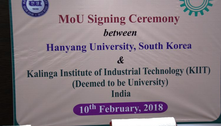 MoU with Hanyang University, South Korea