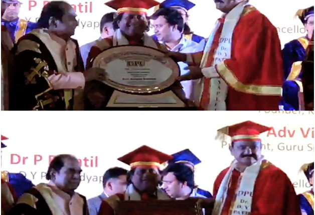 Honorary Doctorate from Dr. D.Y. Patil Vidyapeeth, Pune