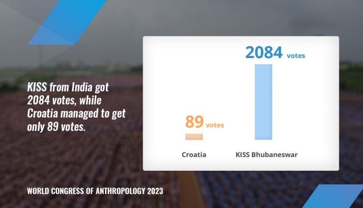 KISS from India got 2084 votes, while Croatia managed to get only 89 votes.