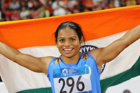 Dutee Chand from  KIIT & KISS won Silver Medal in Asian Games