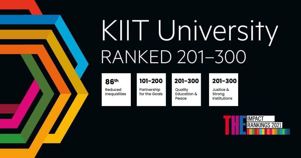 KIIT University Time Higher Education Impacts Ranking 2021