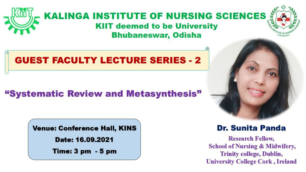 KINS Guest Faculty Lecture Series