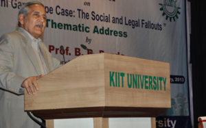 Prof B.B Pande (Former Professor of Law, Delhi University & Consultant, NHRC, New Delhi)