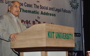 Prof B.B Pande (Former Professor of Law, Delhi University & Consultant, NHRC, New Delhi)